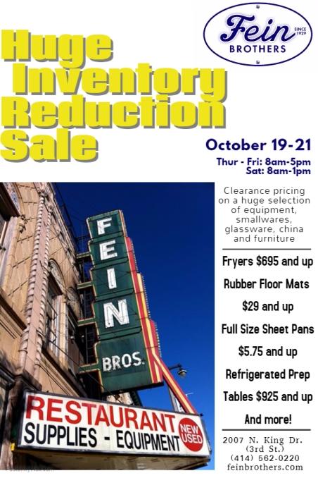 Inventory Reduction Sale Flier